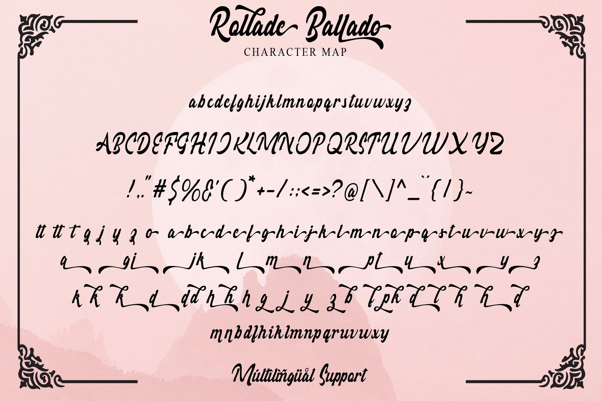 Rollade Ballado Bold Script Font -3
