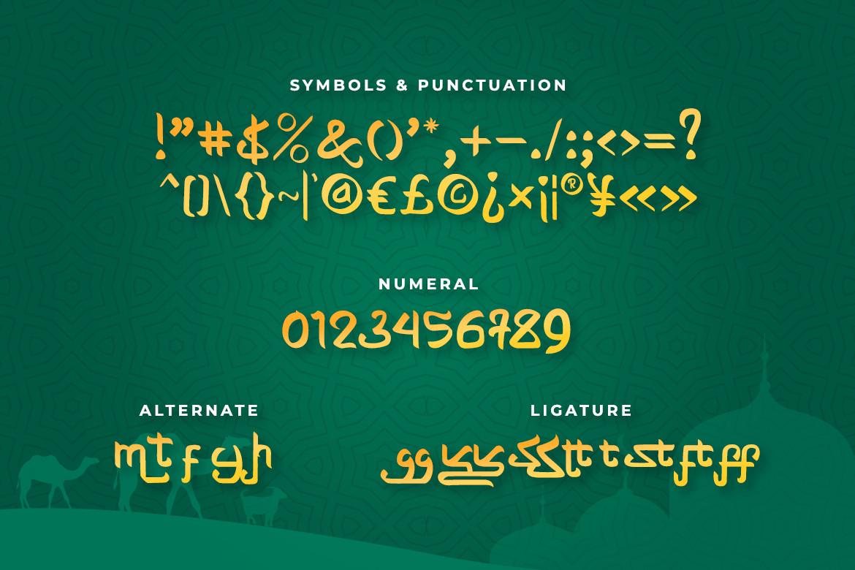 Shayan Arabic Font -3