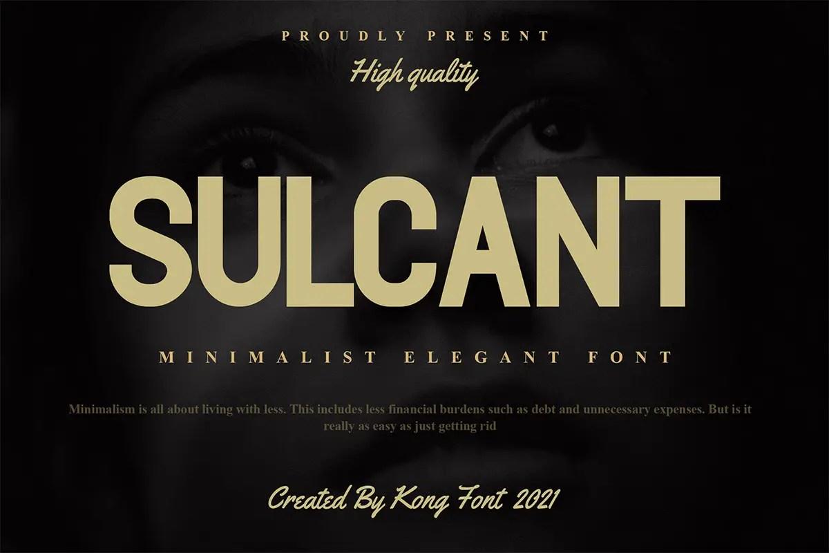 Sulcant Sans Serif Font -1
