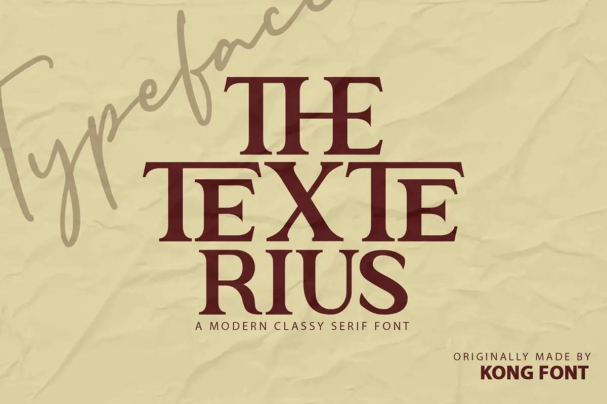 The Texterius Modern Serif Font -1