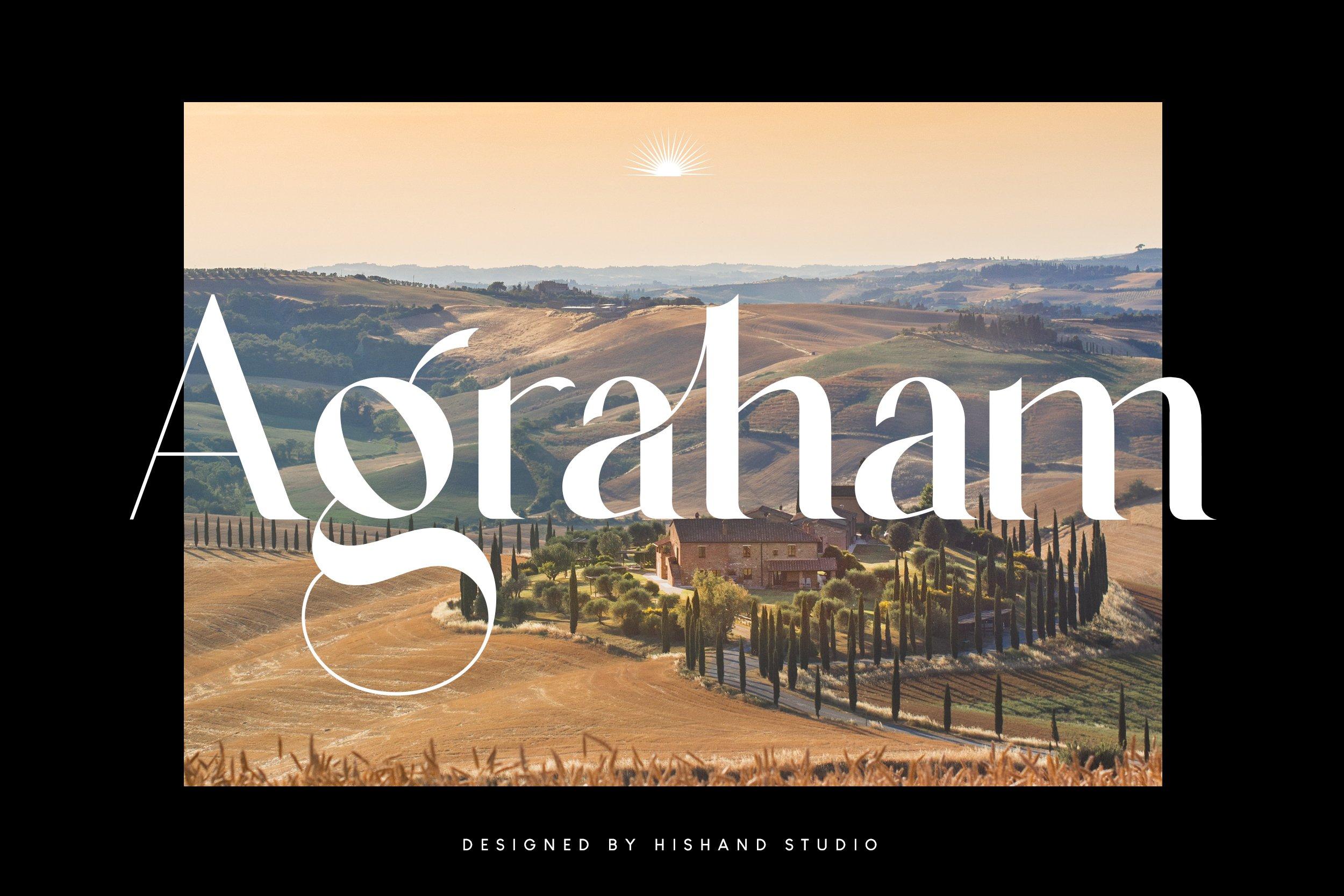 Agraham Serif Font -1