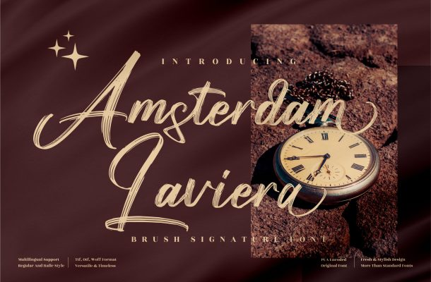 Amsterdam Laviera Font