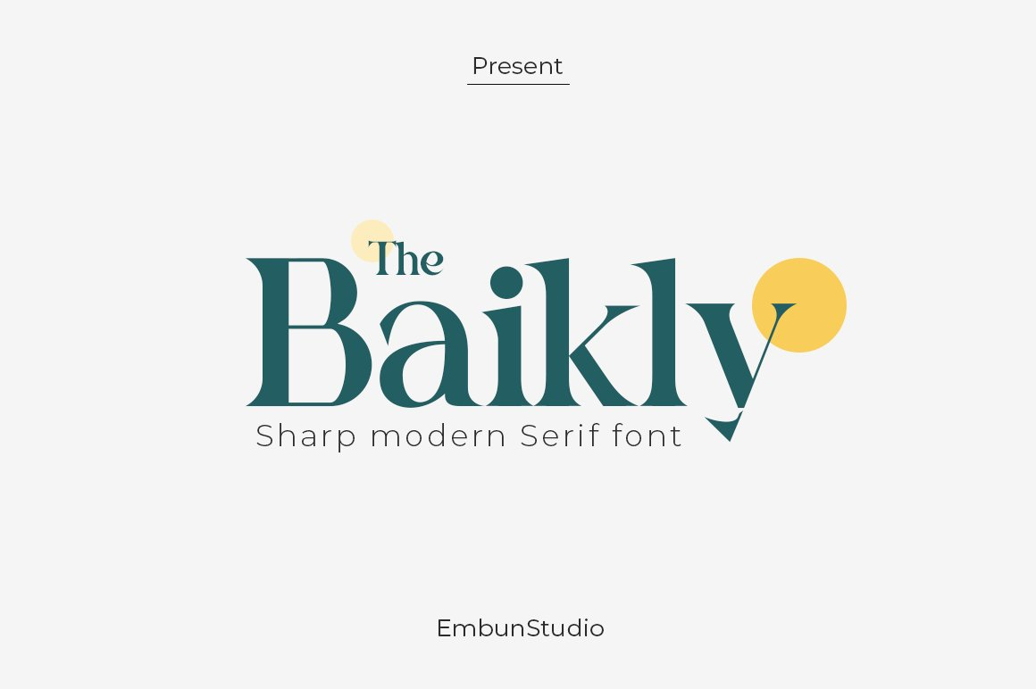 Baikly Modern Serif Font -1