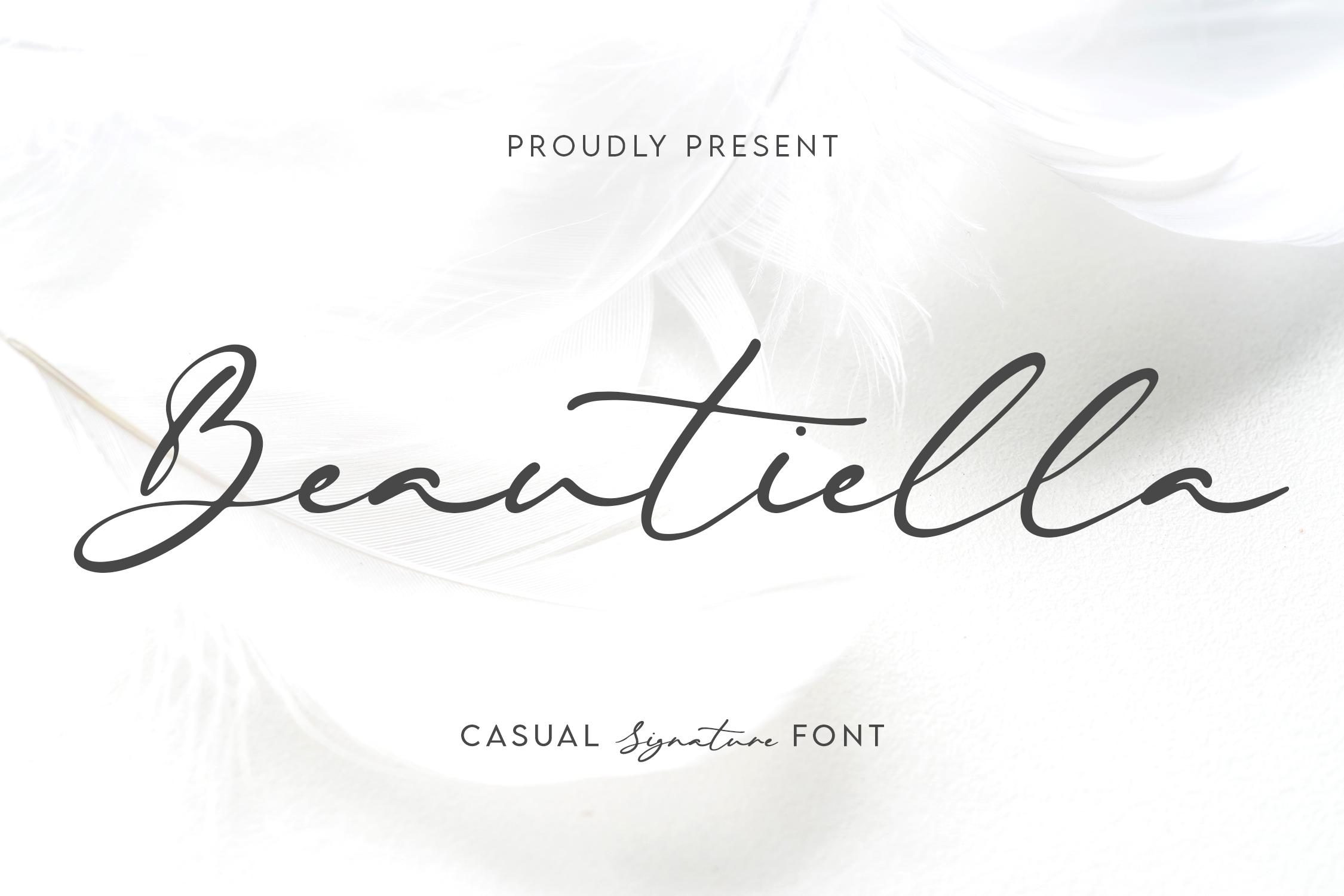 Beautiella Casual Signature Font -1