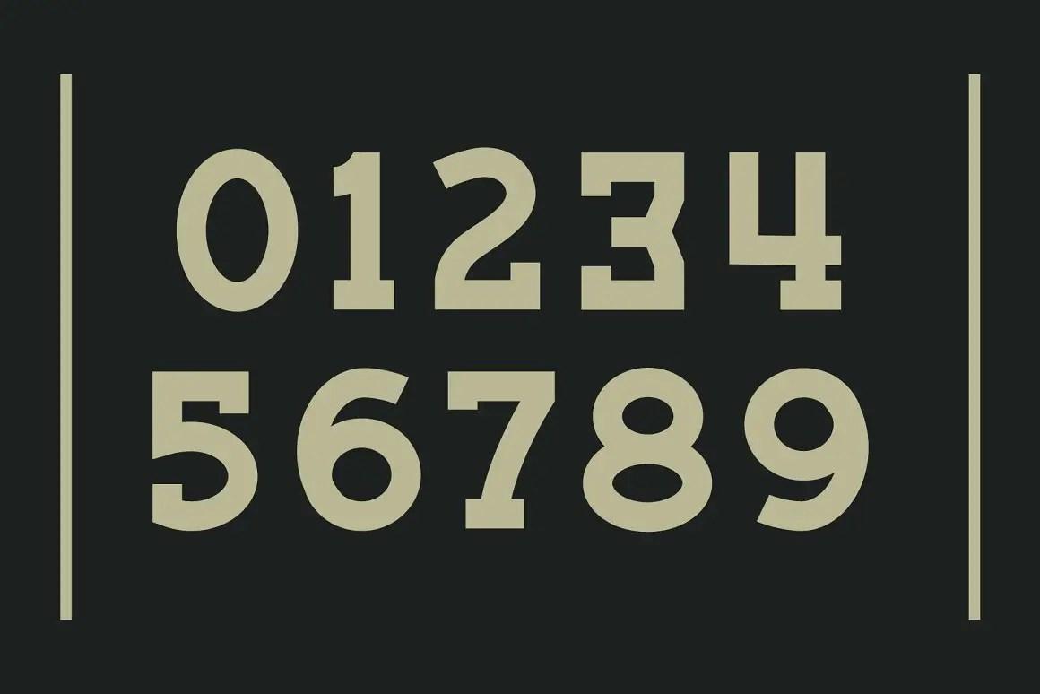 Bigtion Bold Slab Serif Font -3