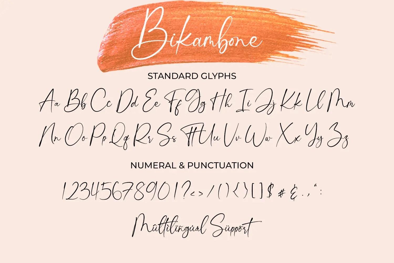 Bikambone Modern Calligraphy Font -3
