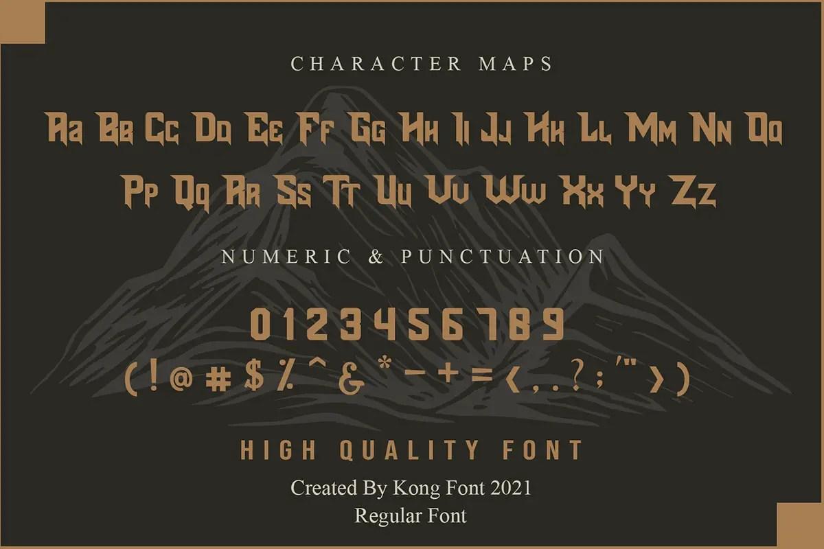 Blades Display Font -3