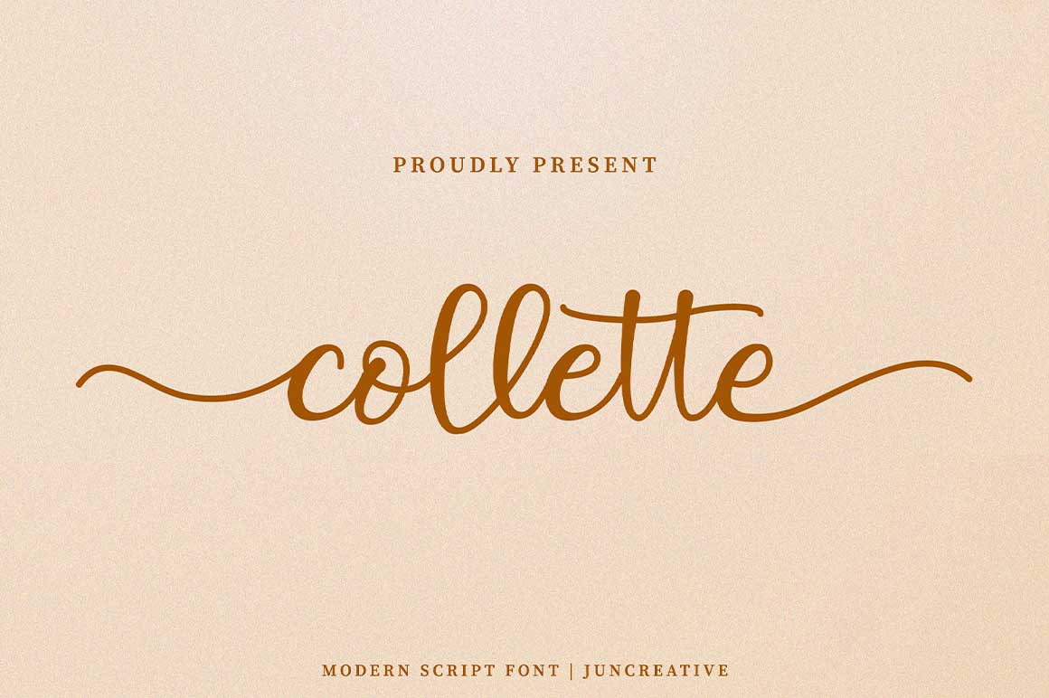 Collette Modern Calligraphy Font -1