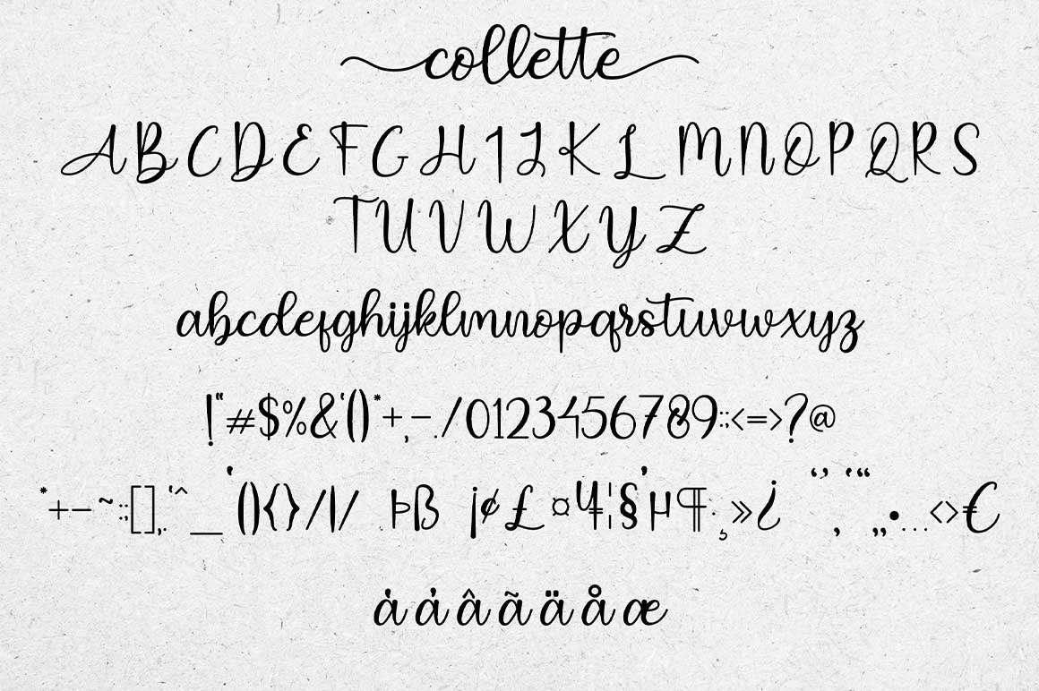 Collette Modern Calligraphy Font -3