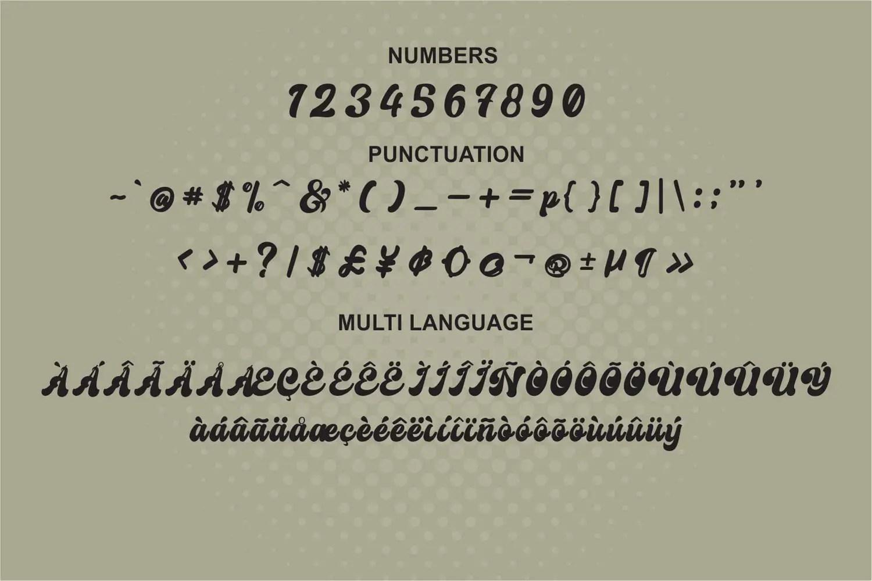Creamer Bold Script Font -3