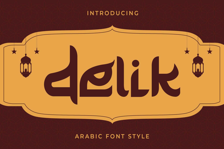 Delik Modern Arabic Font -1