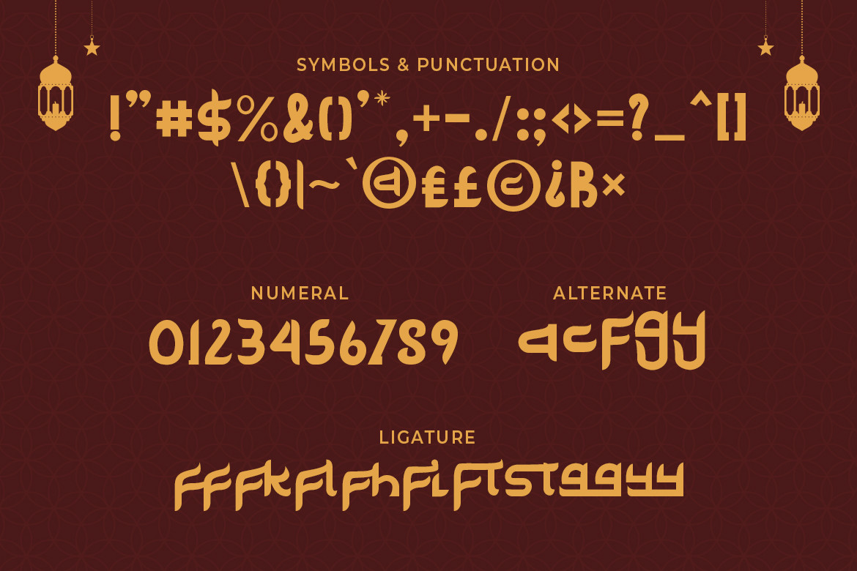 Delik Modern Arabic Font -3