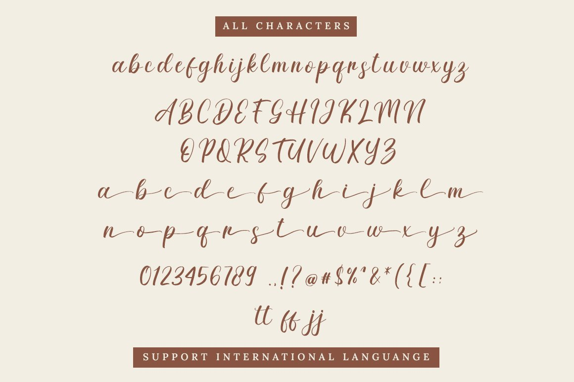 Delinda Agatha Calligraphy Font -3