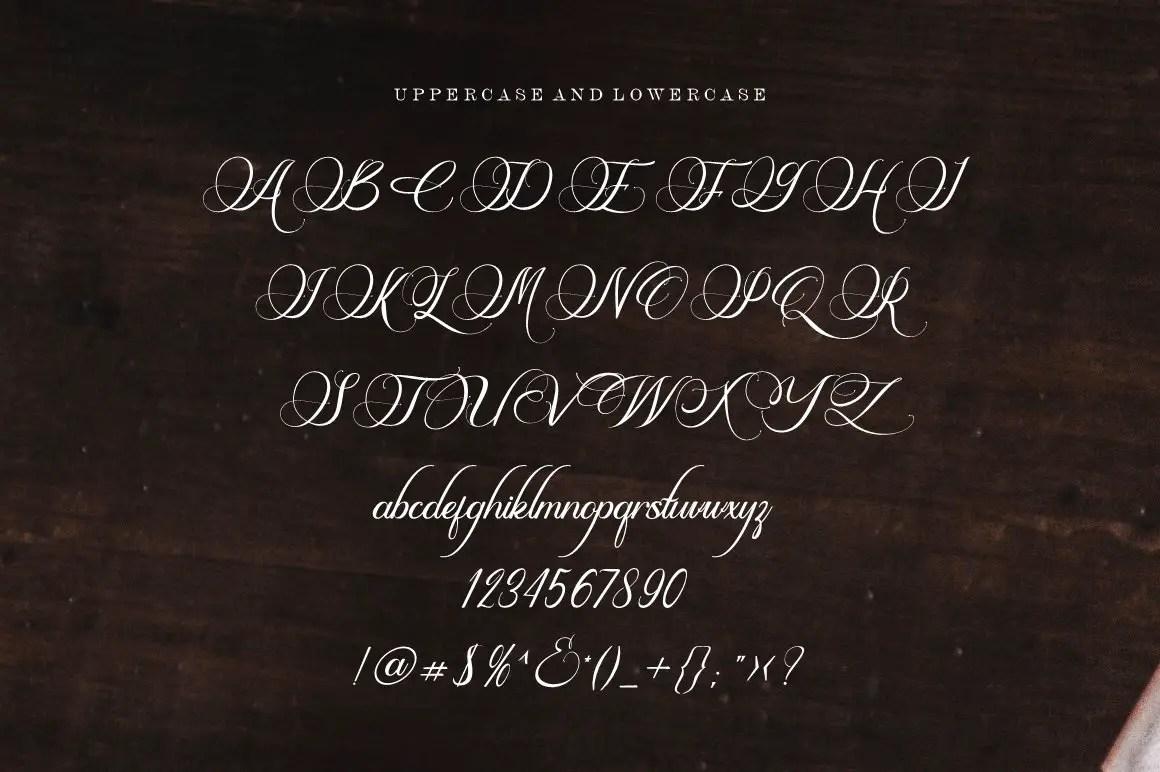 Esdoria Journey Calligraphy Font -3