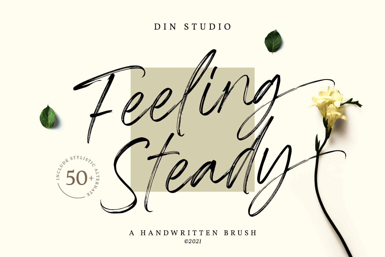 Feeling Steady Brush Font -1