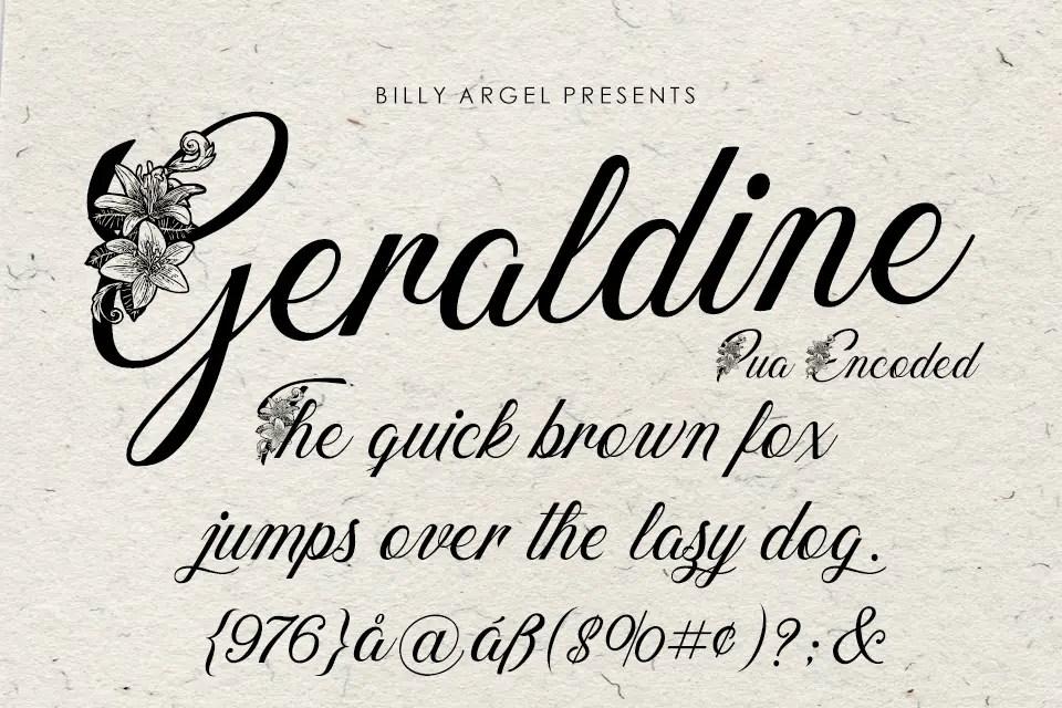 Geraldine Modern Calligraphy Font -2