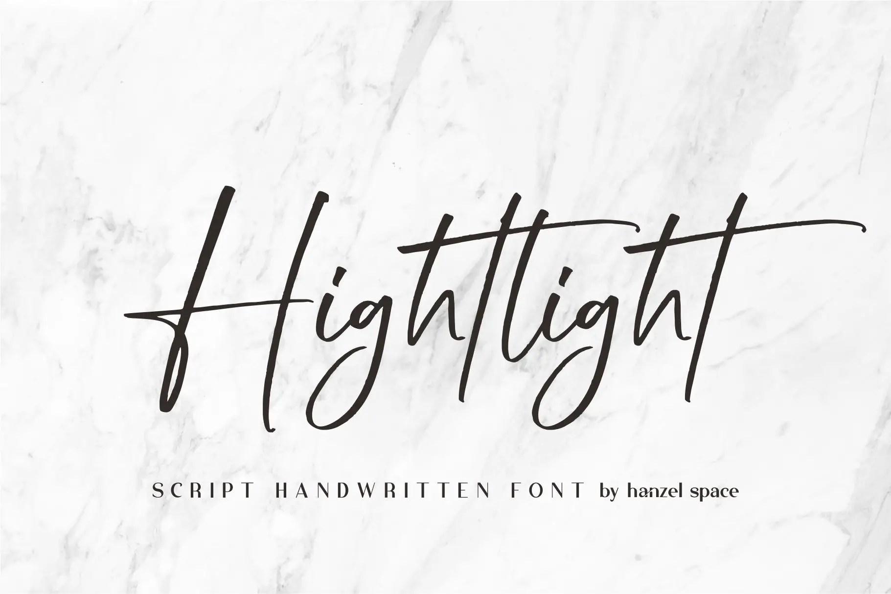 Hightlight Handwritten Font -1