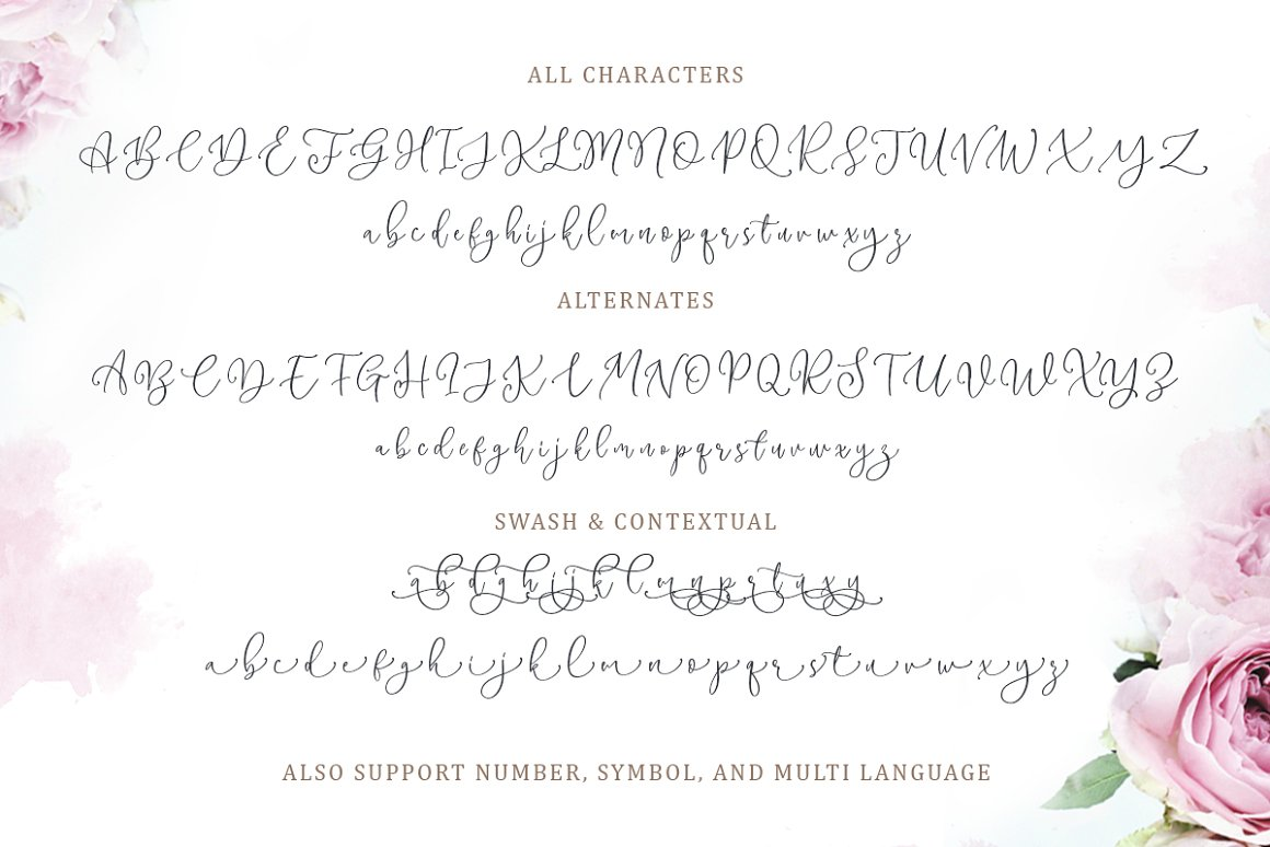 Magdaline Lovely Calligraphy Font -3