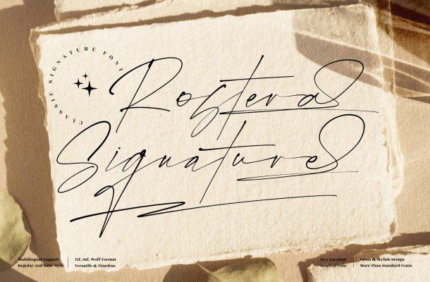 Rostera Signature Font