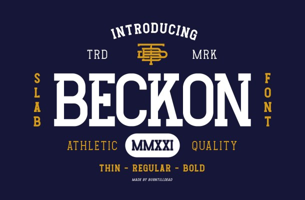 Beckon Font