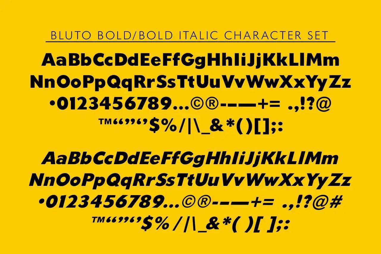 Bluto Bold Sans Font Family -4