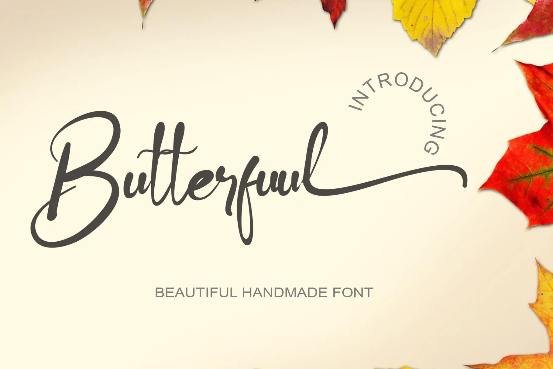 Butterfuul Script Calligraphy Font -1