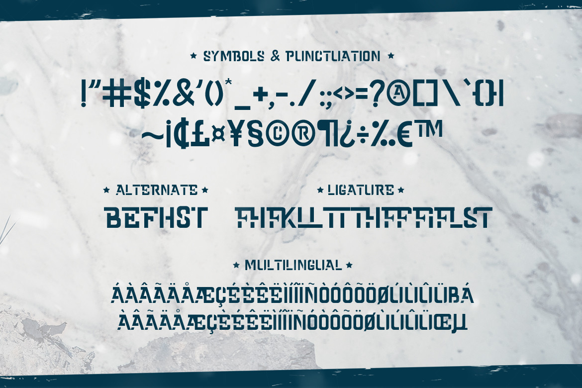 Cold Army ModernDisplay Font -3