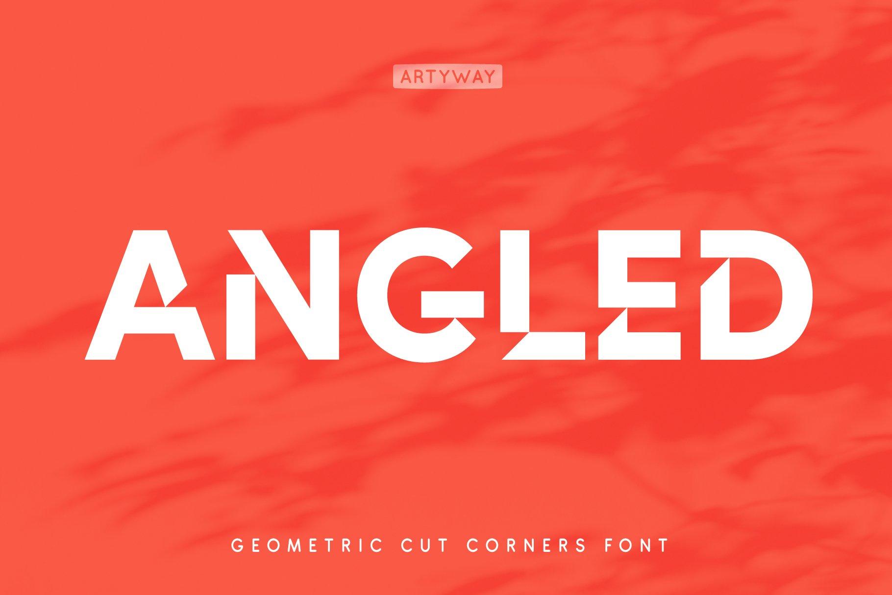 Cut Angles Display Font -1