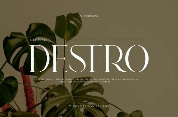 DSETRO Font