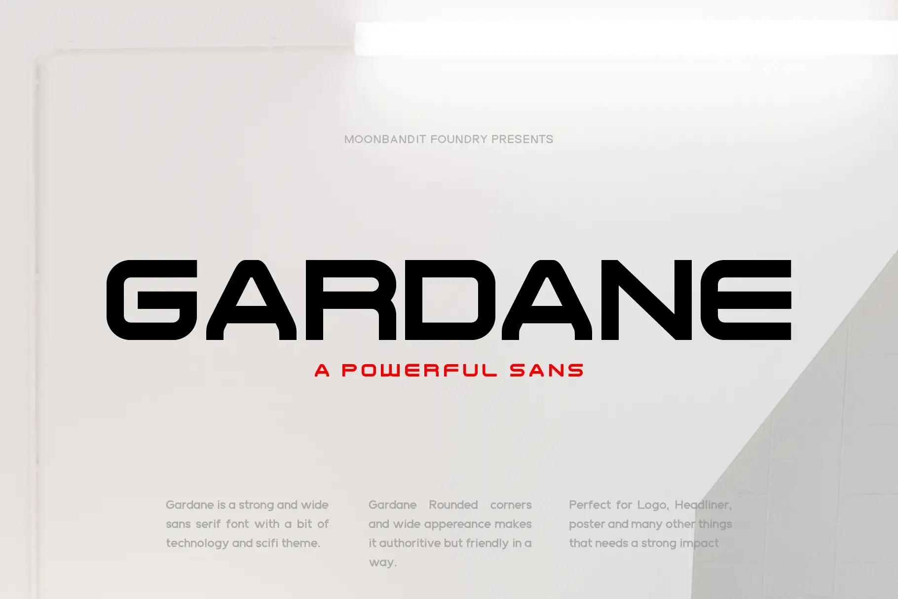 Gardane Powerful Sans Font -1