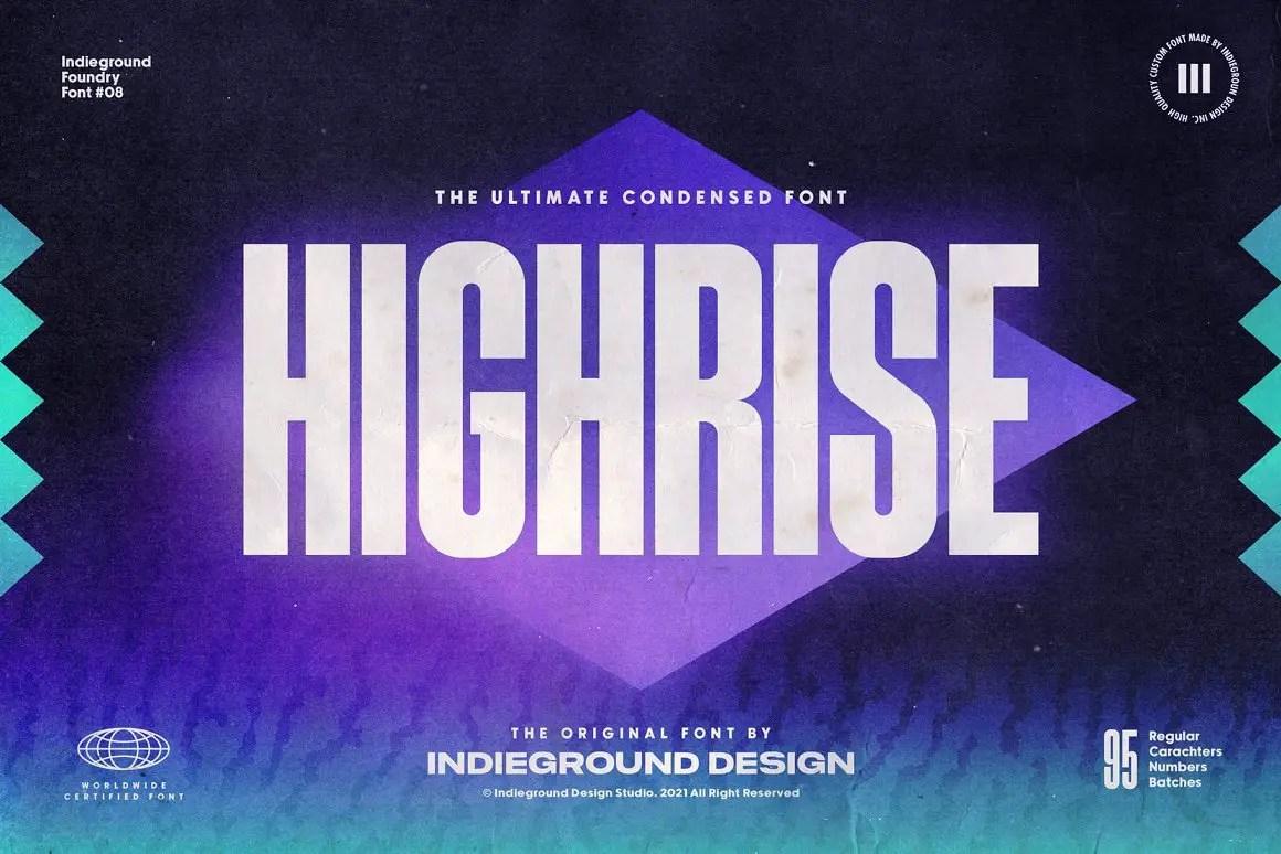 Highrise Display Font -1
