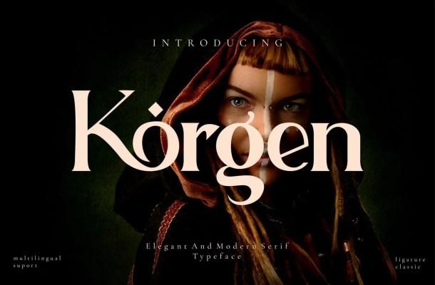 Korgen Font
