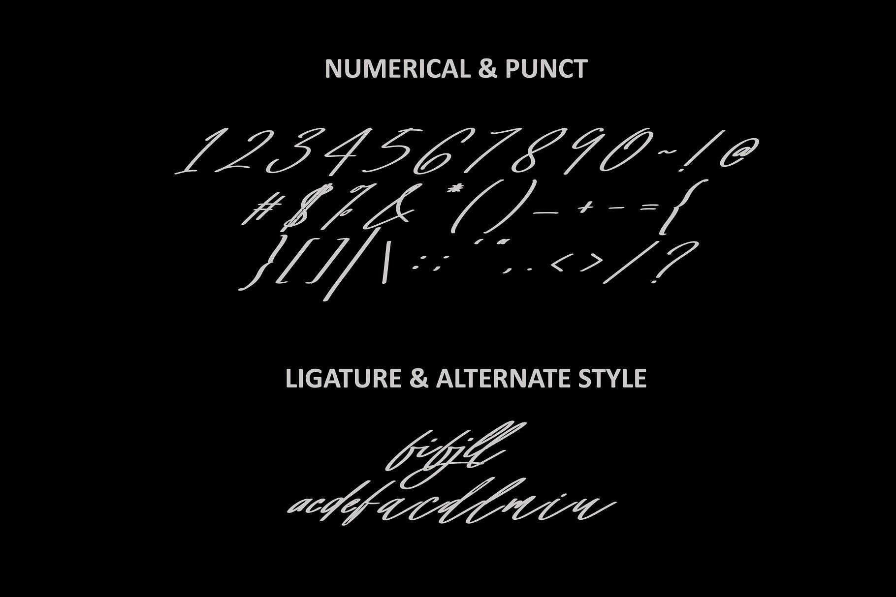 Mighty Script Handwritten Font -3