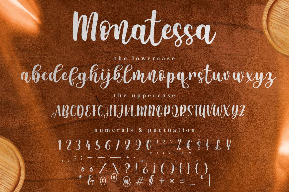 Monatessa Modern Calligraphy Font -3