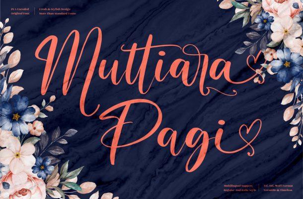 Muttiara Pagi Font