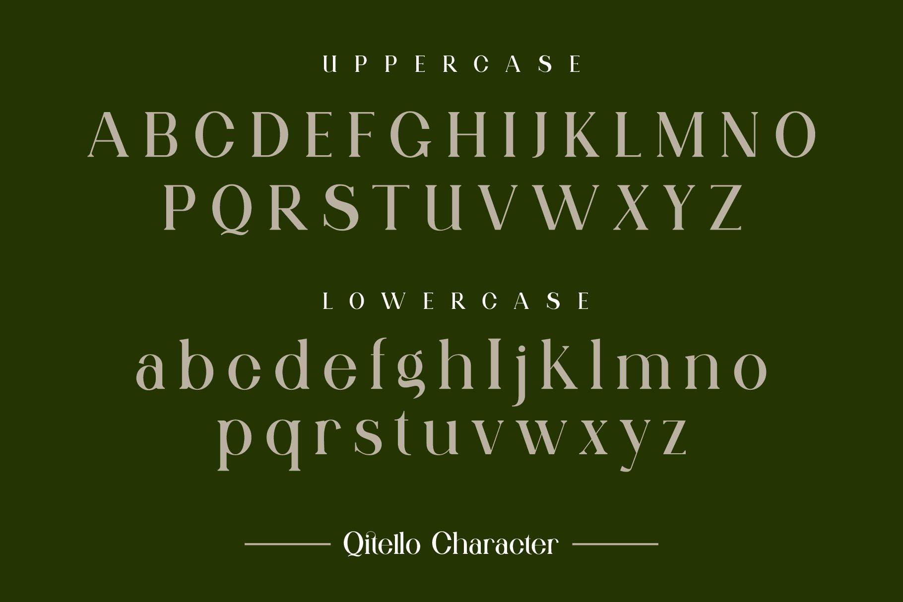 Qitello Bold Serif Typeface -2