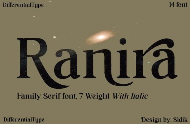 Ranira Font Family