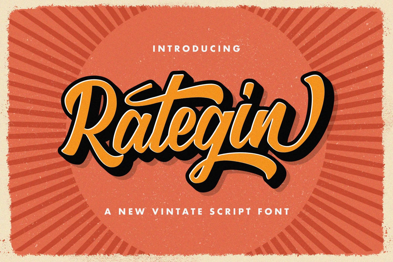 Rategin Bold Script Font -1