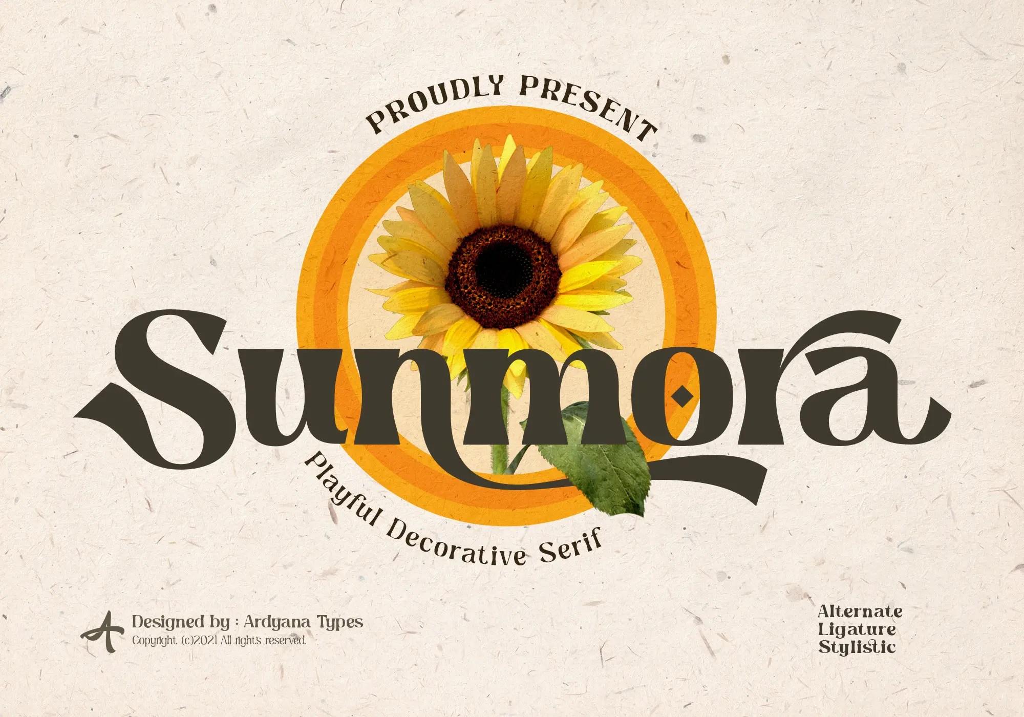 Sunmora Serif Font -1