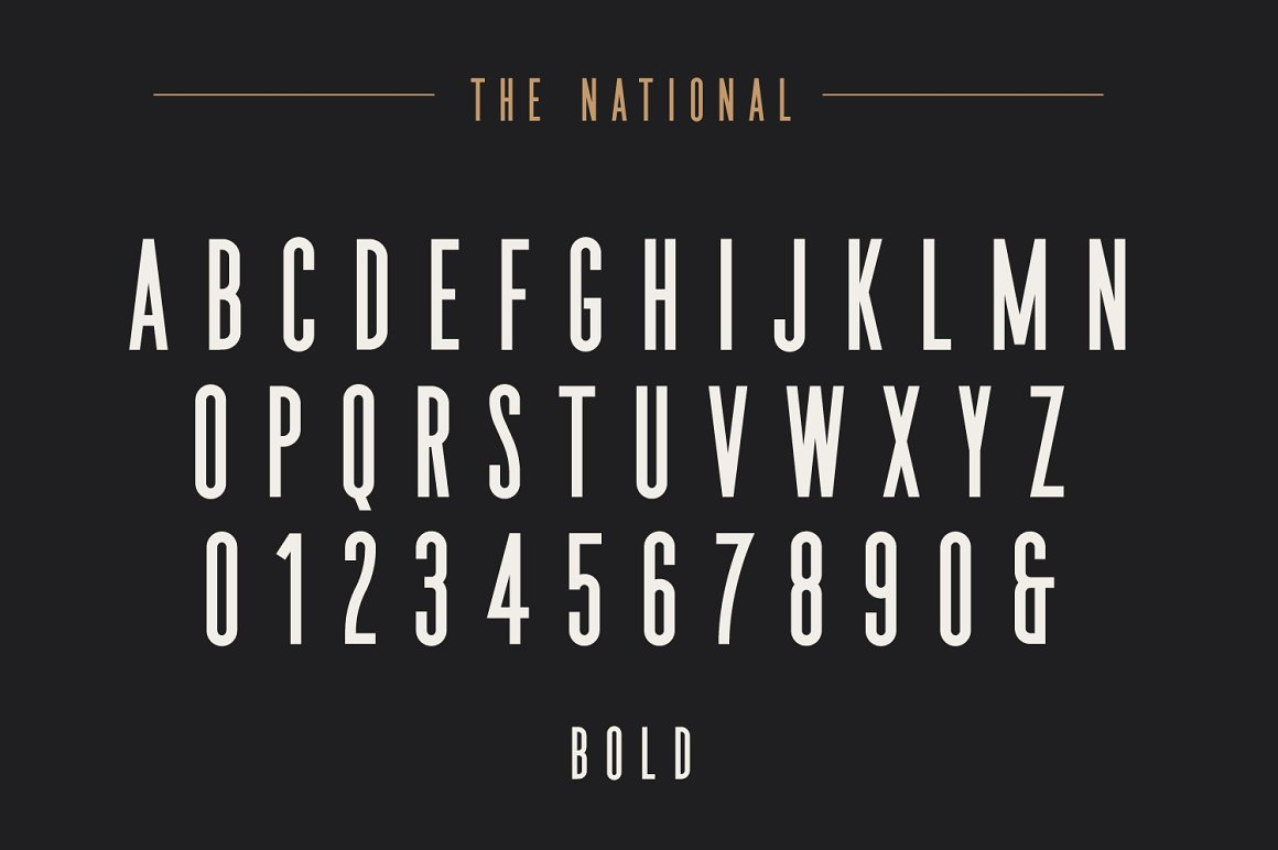 The National Condensed Font Family -2