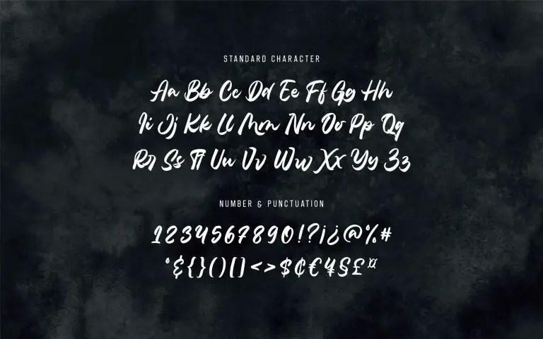 Belanthara Script Brush Font -3