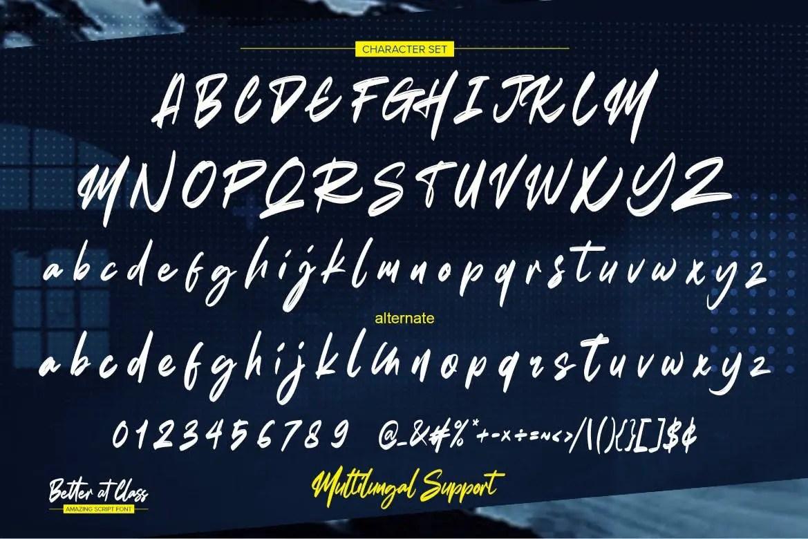 Better at Class Brush Font -3