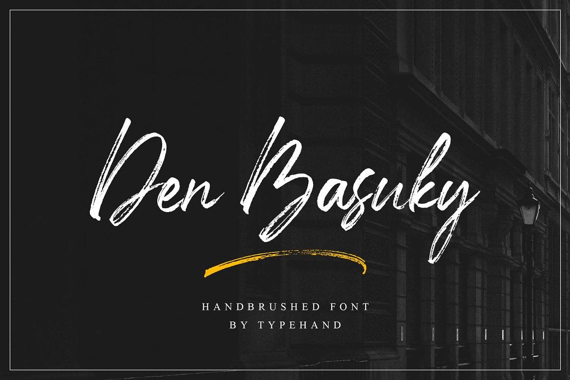 Den Basuky Rustic Brush Font -1