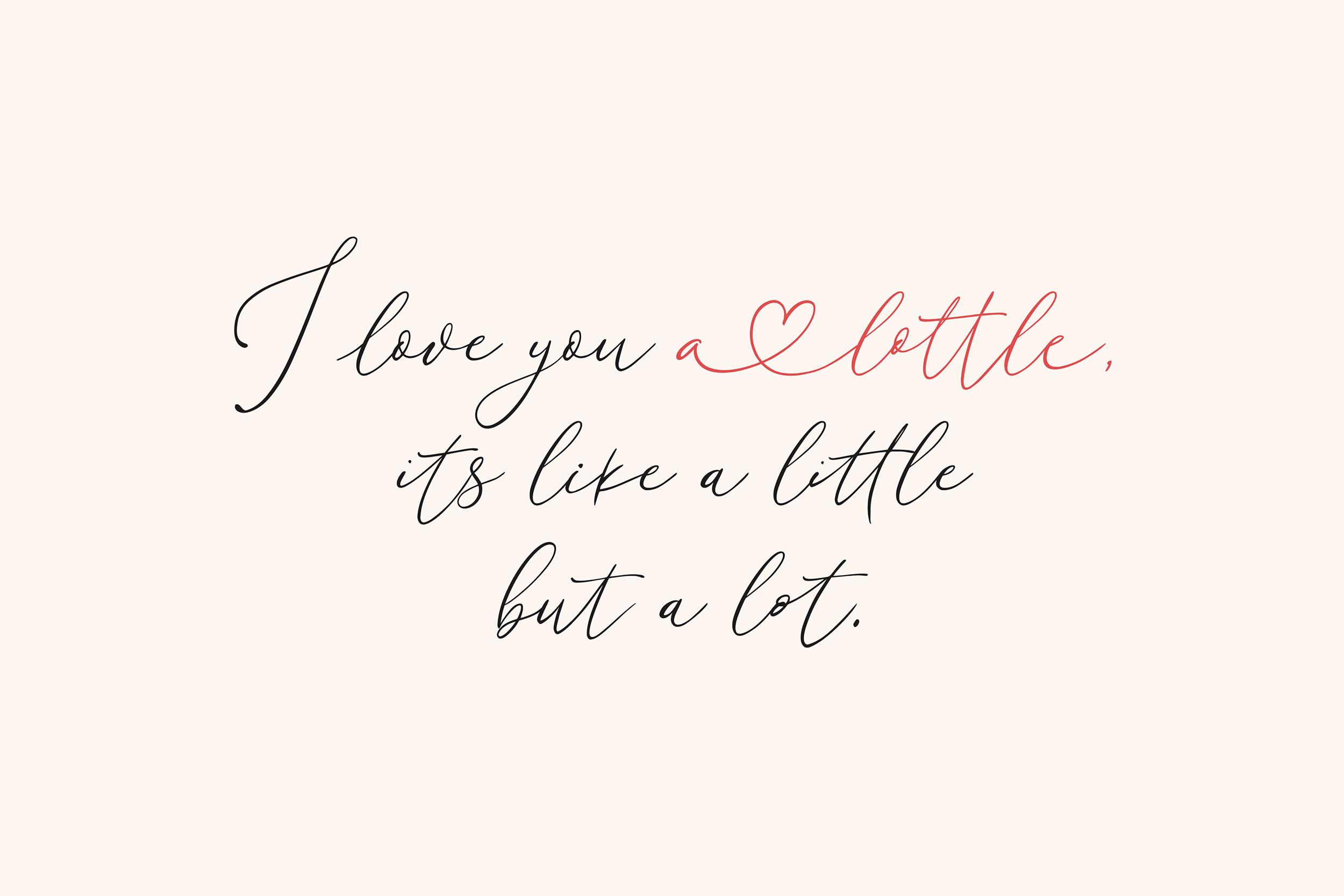Little Love ModernCalligraphy Font -2