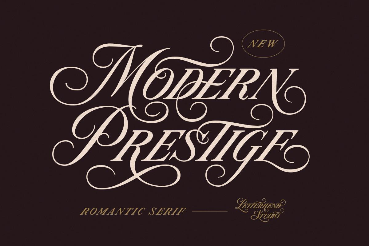 Modern Prestige Romantic Font -1