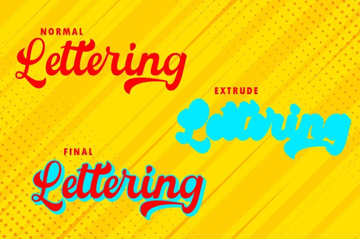 The Manthe Bold Retro Font -3