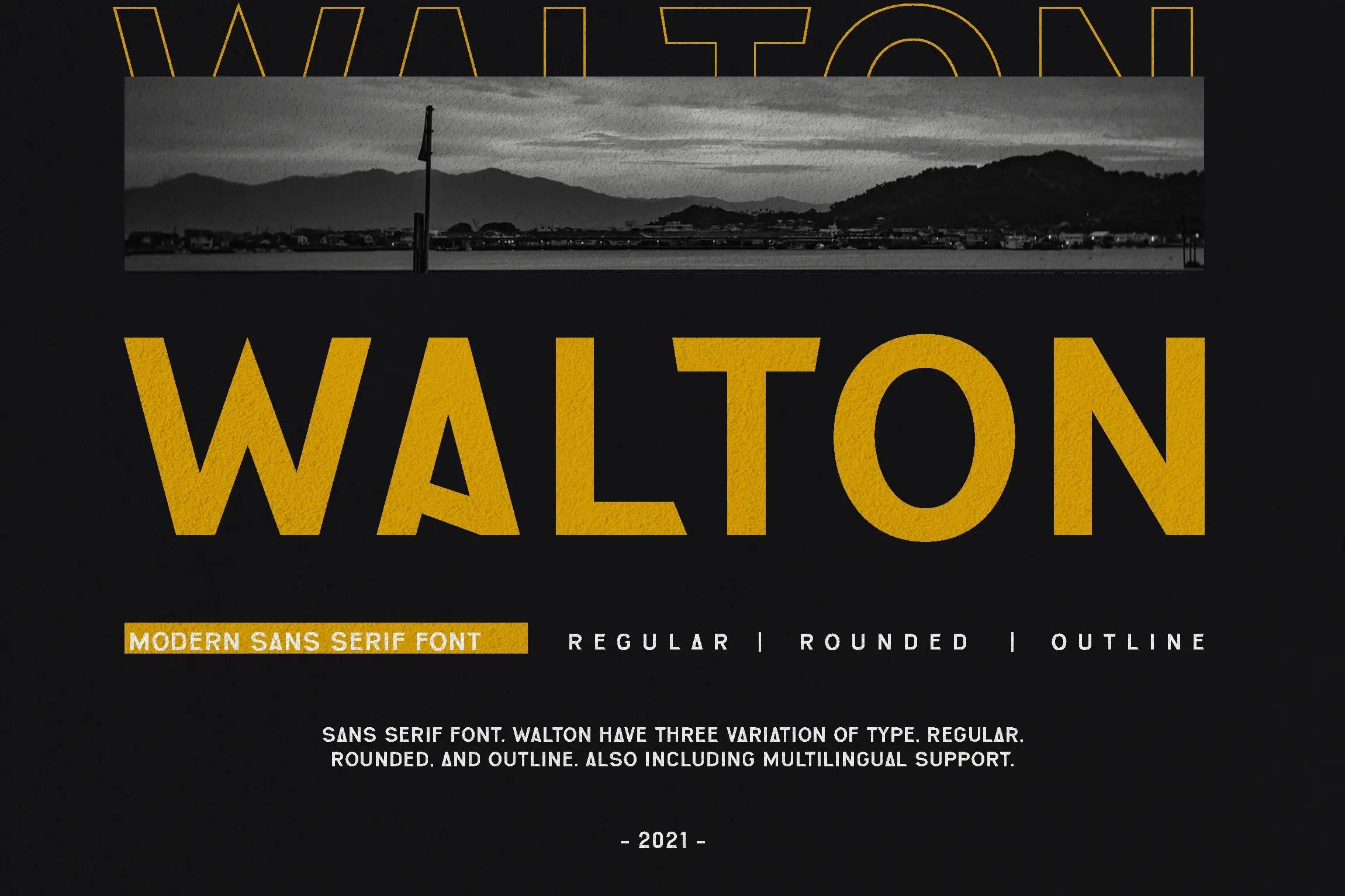 Walton Bold Sans Serif Font -1