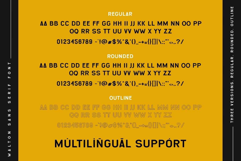 Walton Bold Sans Serif Font -3