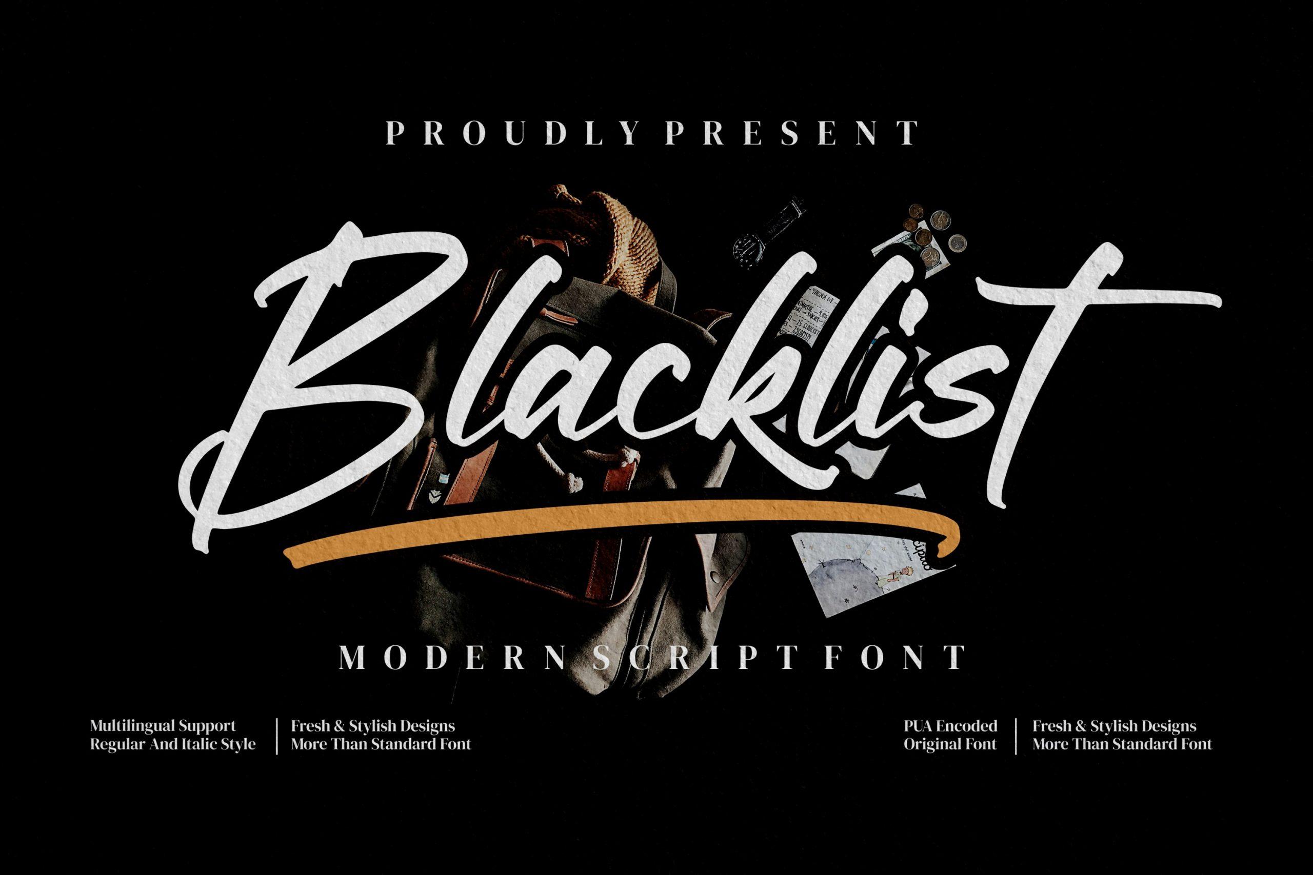 Blacklist Brush ScriptFont -1