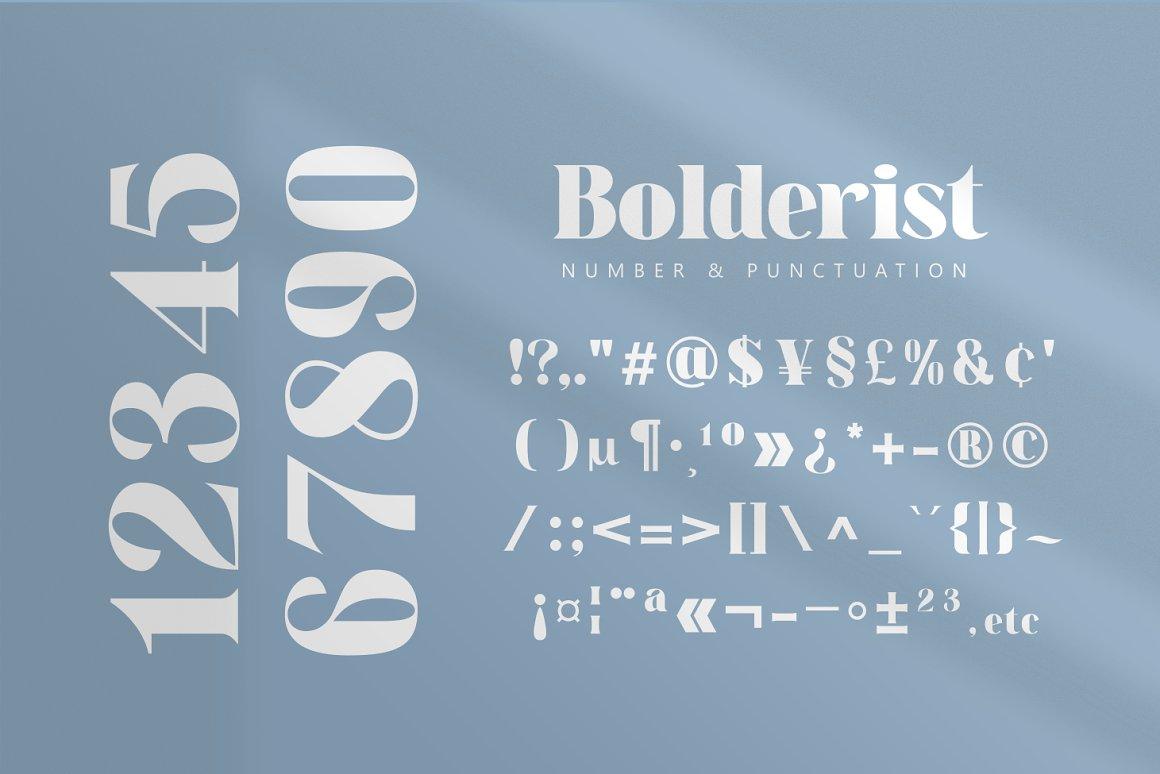 Bolderist Serif Font -3